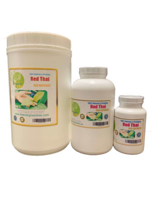 Red Thai kratom Capsules, Red Thai Kratom Capsules (500mg), Buy Kratom Online - the evergreen tree |